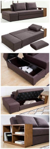 Well Designed Sofa Swt with Wooden Shelf pictures & photos