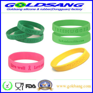 High Quality Promotional Customized Logo Rubber Hand Band/ Silicone Bracelet pictures & photos