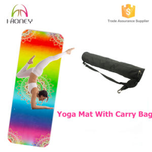 Dazzling&Colorful Printing Microfiber Yoga Mat with Good Cushion pictures & photos