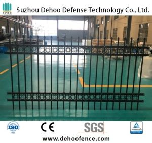 Black Powder Coated Assembled Quality Galvanized Steel Fence pictures & photos