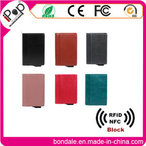RFID Leather Credit Card Holder Wallet with Own Patent for Promation and Gift pictures & photos