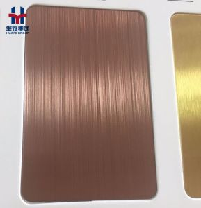 High Quality Titanium Coated Stainless Steel Color Decorative Sheet pictures & photos
