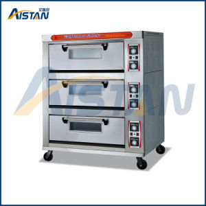 Htd-60 Stainless Steel 3 Layer -6 Trays Electric Food Deck Oven for Bakery Equipment pictures & photos