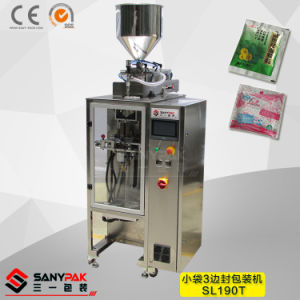 Peanut/Bean/Rice Snack Small Bag Three Side Seal Wrapping Machine pictures & photos