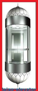Panoramic Lift with Mirror Stainless Steel Ceiling with 1 Fan, LED Soft Lights, 4 Set pictures & photos