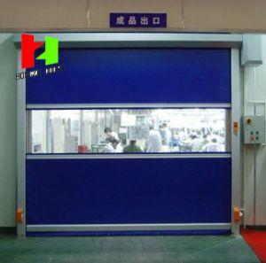 Remote Control Building Material Security Fast Speed PVC Folding Aluminium Door (Hz-FC05623) pictures & photos