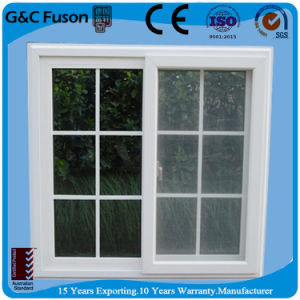 Thermal Break Profile Aluminum Sliding Window with Decorative Line pictures & photos