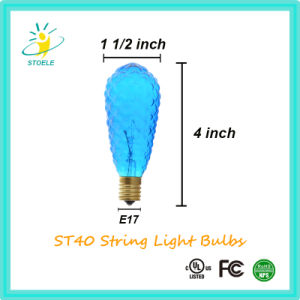 St40 Multiple Color Incandescent Bulbs String Lighting Christmas Bulb pictures & photos