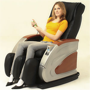 Wooden Color Armrest Coin Operated Massage Chair pictures & photos