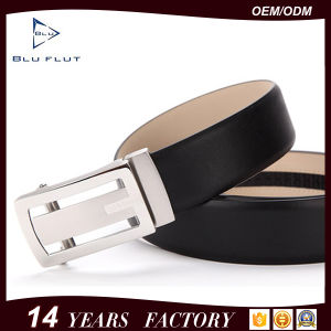 Custom Logo Leather Automatic Buckle Ratchet Men Belt pictures & photos