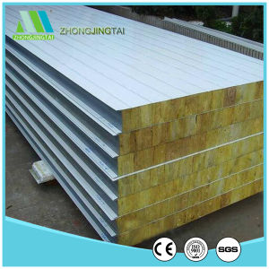Fire Resistant Rockwool Color Steel Sandwich Wall Panel for Prefab House pictures & photos