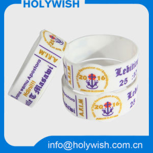 Balance Silicone Rubber Wrist Band Soft Bracelet with Debossed pictures & photos