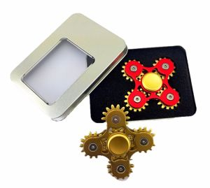 Newest Gift Toy Metal Aluminum Three -Gears Linkage Fidget Hand Spinner pictures & photos