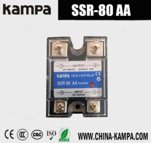 80AA SSR Input 90~280V AC Output 24-480V AC Single Phase AC Solid State Relay pictures & photos