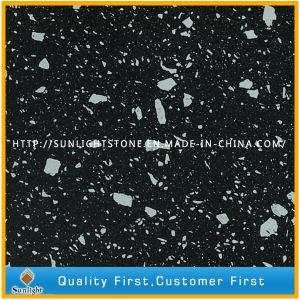 Pure Color/ Sparkles Yellow/Black/White Quartz Stone pictures & photos