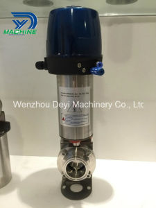 """1"""" Normally Closed Pneumatically Actuated Butterfly Valve pictures & photos"""
