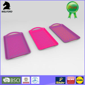 LFGB Passed Non-Slip Plastic Serving Tray
