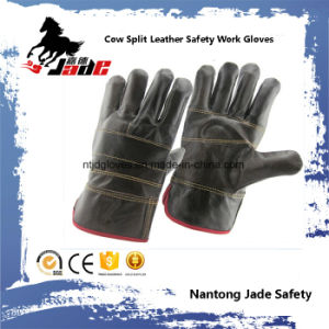 Dark Furniture Cowhide Leather Industrial Safety Work Glove pictures & photos