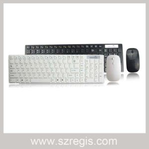 Computer Standard Flexible Mini Wireless Multimedia Keyboard and Mouse Set pictures & photos