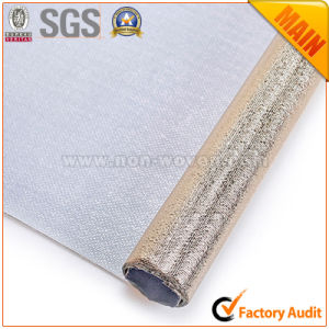 Metalic Film Golden Laminated Non Woven Fabric pictures & photos