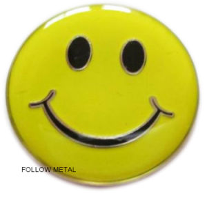 Gift Lapel Pin Badge Offset Printing Smile Face Fashion Jewelry