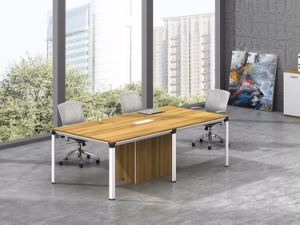 White Customized Metal Steel Office Conference Table Frame with Ht61-3 pictures & photos