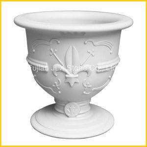 White Marble Flower Vase Garden Planter pictures & photos