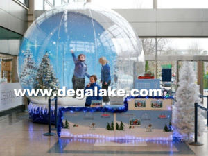 Popular Inflatable Snow Globe for Christmas Decoration Customized