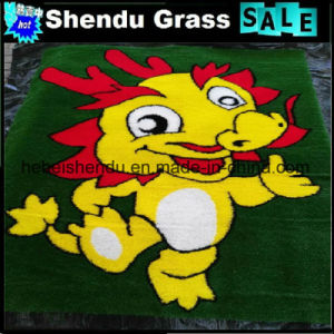 China Popular Carton Artificial Lawn Mat pictures & photos