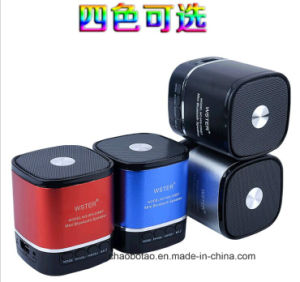 2017 Best Selling Metal FM LED Wireless Portable Mini Bluetooth Speaker pictures & photos