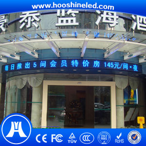 High Contrast Single Blue Color P10 DIP Outdoor Display pictures & photos