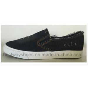 Casual Canvas Vulcanized Shoes with Rubber Outsole Canvas Shoes pictures & photos