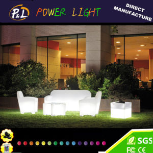 Garden Furniture Wireless Remote Control Rechargeable Cube LED Pot pictures & photos