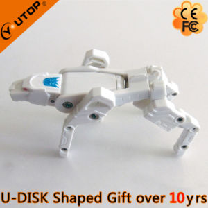 Vivid White Leopard Deformable USB Flash Disk for Present (YT-3707) pictures & photos