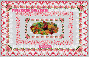140*215cm Round PVC Printed Transparent Tablecloth of Independent Design pictures & photos