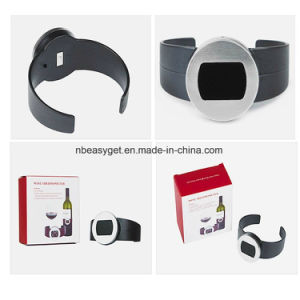 Champagne and Wine Bottle Snap Thermometer Digital Instan Read Thermometers with LED Display for Wine Enthusiast Red Wine Bracelet Thermometer pictures & photos