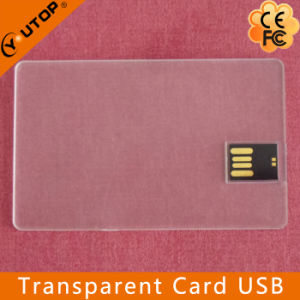 Custom Company Gift Flash Drive Transparent Card USB (YT-3101-02) pictures & photos