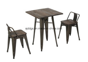 Wodden Base Iron Table High Table pictures & photos