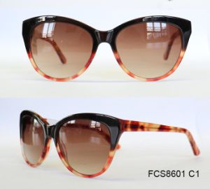 Shiny Finished Premium Quality Acetate Sunglasses for Women pictures & photos