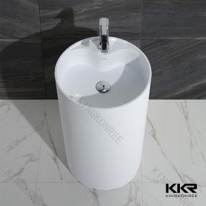 Stone Bathroom Furniture Freestadning Wash Basin pictures & photos
