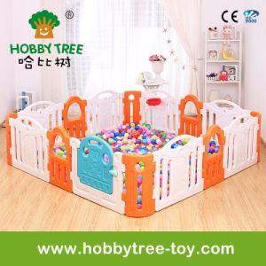 2017 Colorful Plastic Indoor Kids Play Game Fence (HBS17043A)