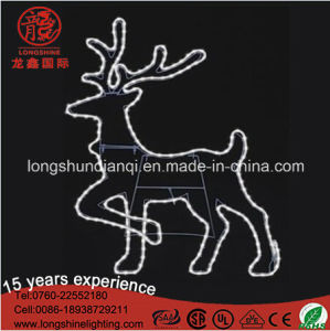LED Warm White IP65 Rope Neon Reindeer Christmas Light pictures & photos