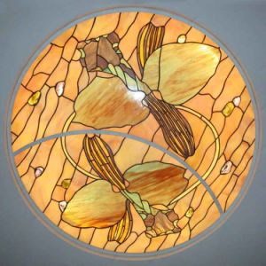 Home Wall Decorations Materials Italian Design Stained Glass Art Panel Ceiling pictures & photos