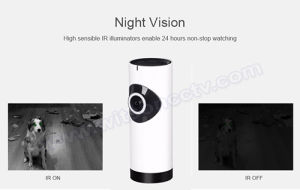 720p CCTV 180 Degree Mini Panornamic Wireless WiFi IP Home Security Smart Camera pictures & photos