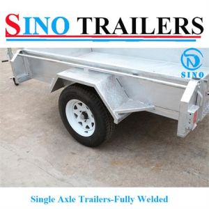 2016 Top 1 Quality Hot Dipped Galvanized Heavy Duty Single Axle Fully Welded Box Trailer