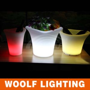 Changing Glowing Plastic Light LED Flower Pots pictures & photos