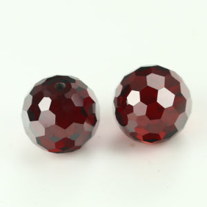 Garnet Color 8mm Round Faceted Glass Crstyal Bead pictures & photos