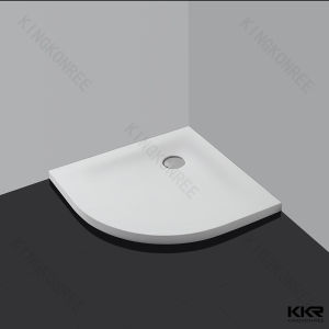 Anti-Slipping Shower Tray Resin Stone Bathroom Corner Shower Base pictures & photos