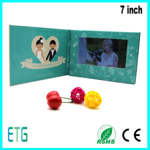 Spot Colour Printing 7 Inch Video Brochure for Wedding pictures & photos