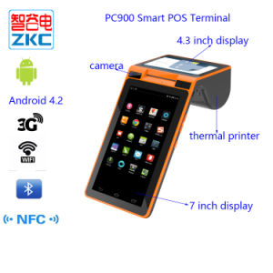 Zkc PC900 7 Inch Smart Android Mobile POS Terminal with Printer pictures & photos